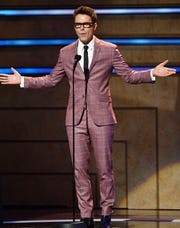 Bobby Bones introduces the start of the 2019 CMT Artists of the Year at the Schermerhorn Symphony Center Wednesday, Oct. 16, 2019, in Nashville, Tenn.