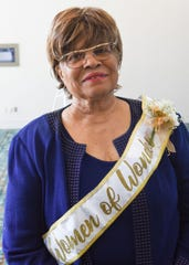 Kraft Humanitarian Award honoree Rosetta Miller-Perry complete with Woman of Wonder sash and corsage.