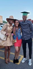 Rickey Scott, right, with sister Reyna Scott in the middle and aunt Rickelle Viney, left.