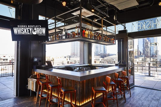 The rooftop patio at Dierks Bentley's  Whiskey Row is the tallest on Broadway.