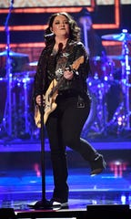 Ashley McBryde took home a Breakout Artist of the Year award on Wednesday.