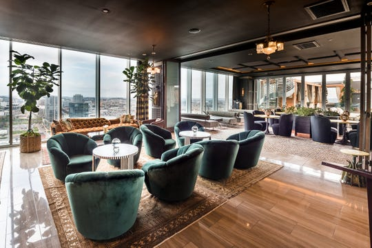 The L27 Rooftop Lounge is aptly named for its location on the 27th floor of the Westin Nashville.