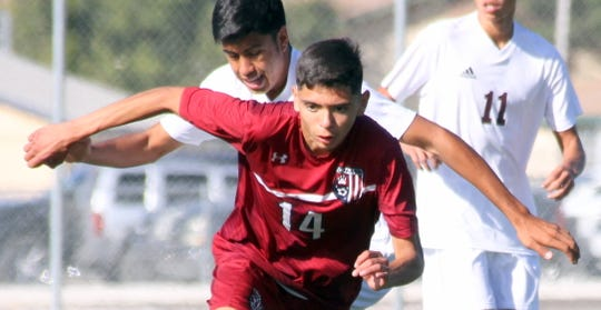 Junior Wildcat stryker Leopoldo Barrajas chases down a free ball in Wednesday's 4-0 loss to the Gadsden Panthers.