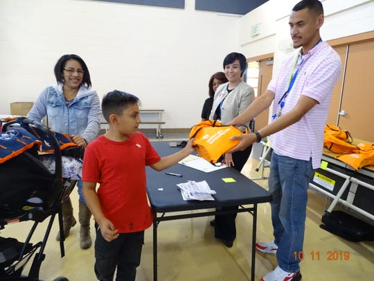 Over 300 new pair of shoes were distributed on Oct. 11, 2019, to students from Sunrise, Chaparral and Desert Trails elementary schools.