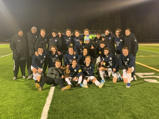 The Salem boys soccer team captured a 2019 district title after defeating Canton.