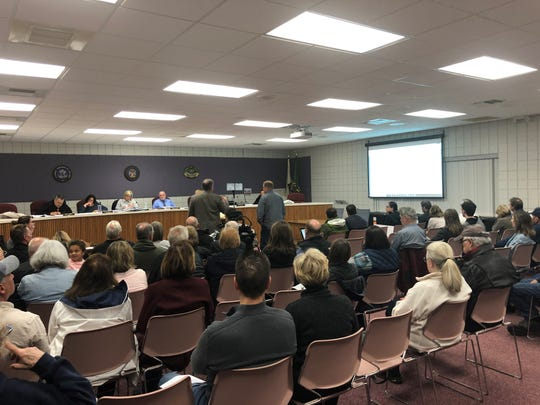 At a well-attended Milford Township Board meeting on Oct. 16, trustees denied a rezoning request for a cell tower made by applicants TowerCo and Verizon.