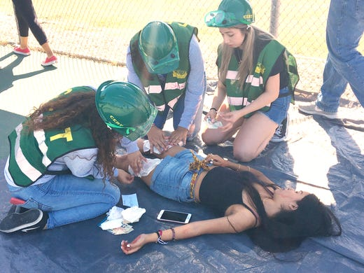 On Bay Area earthquake's anniversary, Cathedral City seniors rescue peers during ShakeOut simulation