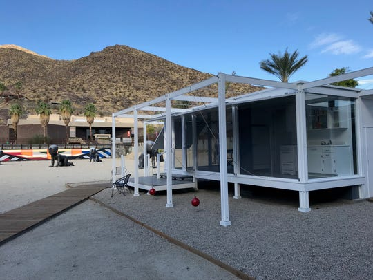 Located in downtown Palm Springs, the Walker Guest House was designed in 1952 by architect Paul Rudolph, Oct. 17. 2019.
