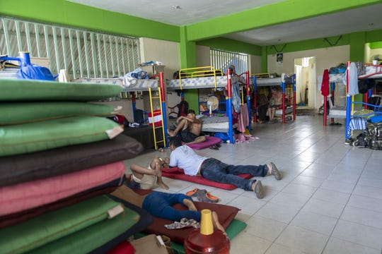 Central American migrant families live in the Jesus the Good Shepard Shelter for Migrants in Tapachula, Mexico, in summer 2018.