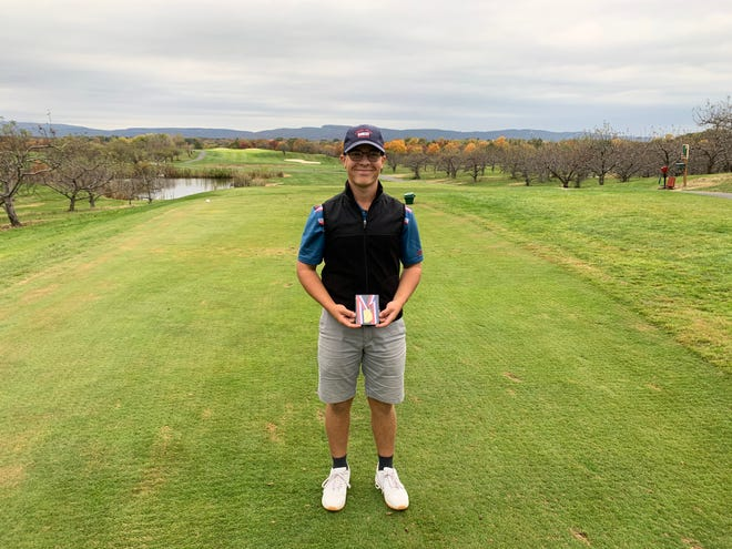 New Paltz's Nick Puleo repeated as Mid-Hudson Athletic League boys golf champion on Wednesday.