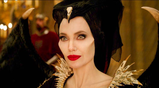 "Angelina Jolie stars in ""Maleficent: Mistress of Evil."" The movie is playing at Regal West Manchester, Frank Theatres Queensgate Stadium 13 and R/C Hanover Movies."