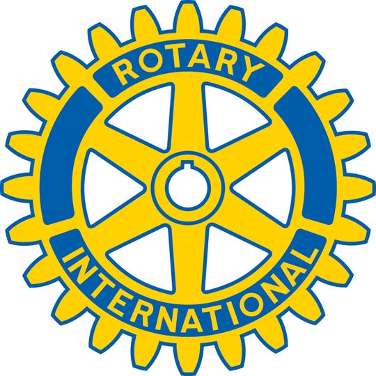 The Rotary International logo is seen in this file photo.