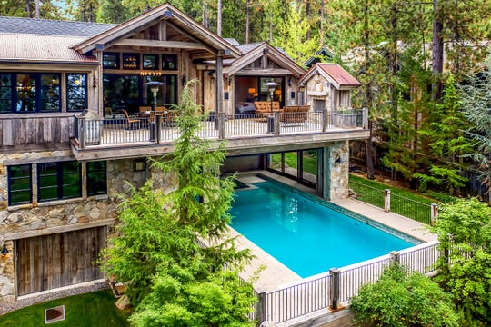1550 Debra Lane in Incline Village, on the market for $12 million through Sierra Sotheby's International Realty, belongs to a small home owners association with a private pier, boat ramp, buoys and private beach on Lake Tahoe.