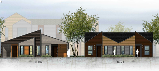 A proposed rendering of Sunrise Trails, which will bring 200-plus duplexes and townhomes to north Fernley.