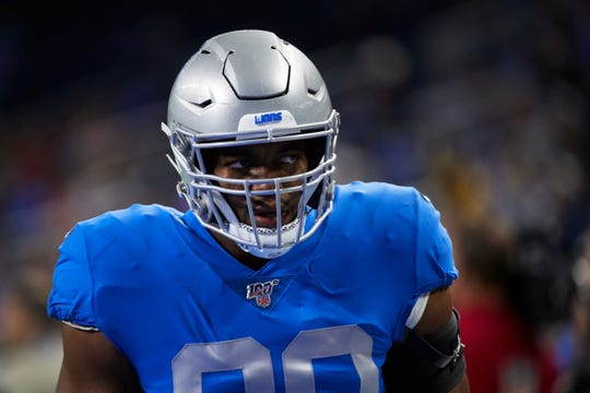 Detroit Lions defensive end Trey Flowers had two penalties called against him Monday night in Green Bay that should not have been called.