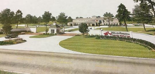 Rendering of the future Willis-Knighton healthcare center at Palmetto property in Bossier Parish.