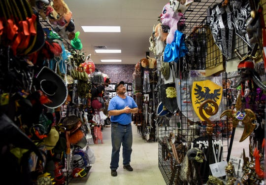 "Paul Sieber has owned Halloween Express, a pop-up costume store, for six years and believes the store provides the largest selection of costumes in the area. ""One cool thing about Halloween is that you can become anyone you want in an instant,"" Sieber said."
