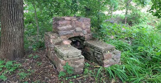 A fire pit located at the abandoned town of East Sioux Falls will be a feature in the Perry Nature Preserve Area.