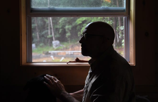 Fortitude Ranch employee Steve Rene keeps an eye on the property from his home.