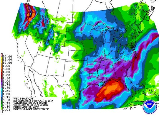 A Tropical Storm Nestor could bring plenty of rain to the Panhandle.