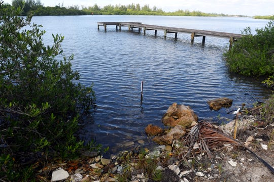 Old construction debris, including concrete slabs and pylons, will be removed to make way for a new living shoreline between the Jones Pier Conservation area and a smaller pier just to the north along the Jungle Trail in Indian River County. A $27,300 grant from the Florida Fish & Wildlife Commission will aid in the shoreline improvements.