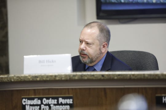 Commissioner Bill Hicks, a District 6 appointee to the review commission and former district judge, during Thursday's Ethics Review Commission meeting.
