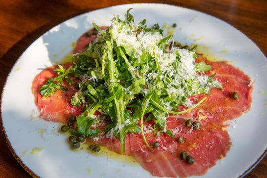 Brasstown beef carpaccio from Limoncello
