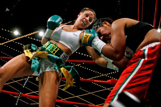 Maureen Shea, left, shown fighting Eva Lidia Silva in 2007, hasn't had many chances to get back in the ring but will fight Friday night in Niagara Falls, New York.