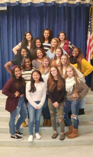 (Top row, from left) Juanita Jimenez, Kenny'a Dunns, Abbey Maurer; (second row, from left) Anna Azari, Shelby Souders; (third row, from left) Ashanti Holloway, Mahogany Wheeler, Brianna Miller, Tyara Scott; (fourth row, from left) Sha'Nyia Collins, Kyleigh Harbison, Lauren Cox; and (fifth row, from left) Cristal Arroyo, Amanda Stellwag, Kylie Giordano and Gabrielle Marquez, are the Miss Holly City contestants.
