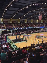 The New York Liberty and Minnesota Lynx play in 2018 at the Westchester County Center in White Plains.