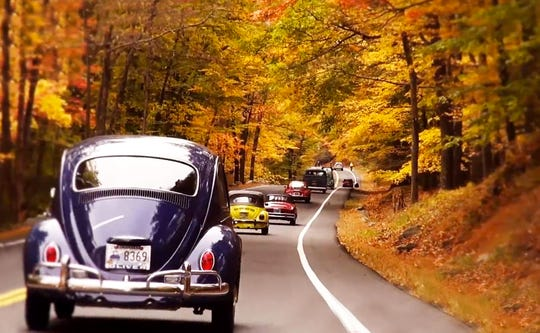 Classic VW bugs cruise Rockland County and Westchester County on an annual ride.