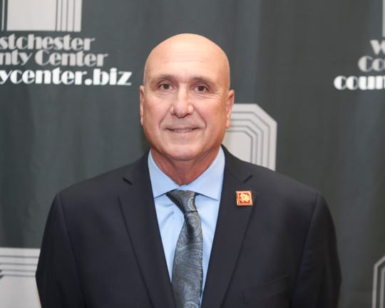 Coach Lou DiRienzo photographed prior to the Westchester Sports Hall of Fame induction ceremony at Westchester County Center in White Plains on Thursday, October 17, 2019.