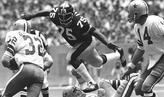 Joe Greene is a four-time Super Bowl champion, a two-time NFL Defensive Player of the Year (1972, 1974), the NFL Defensive Rookie of the Year (1969) and a 10-time Pro Bowler.
