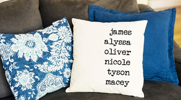 Best gifts for grandma 2019: Qualtry Personalized Gift Throw Pillow Covers