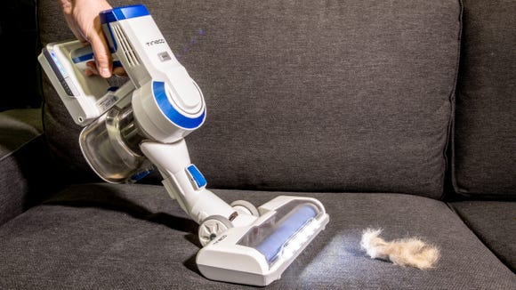 Our pick for best value cordless stick vacuum—the Tineco A10 Hero.