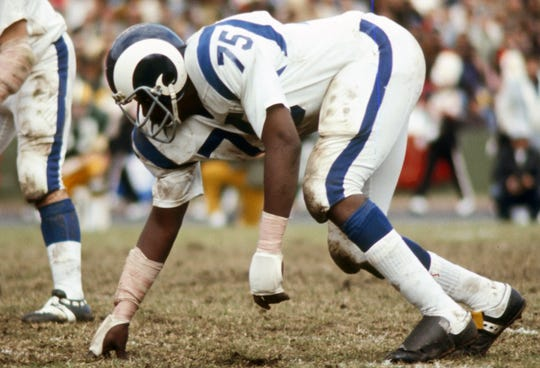 Deacon Jones went to eight Pro Bowls, was a five-time First Team All-Pro and was named the NFL's Defensive Player of the Year two times (1967, 1968).