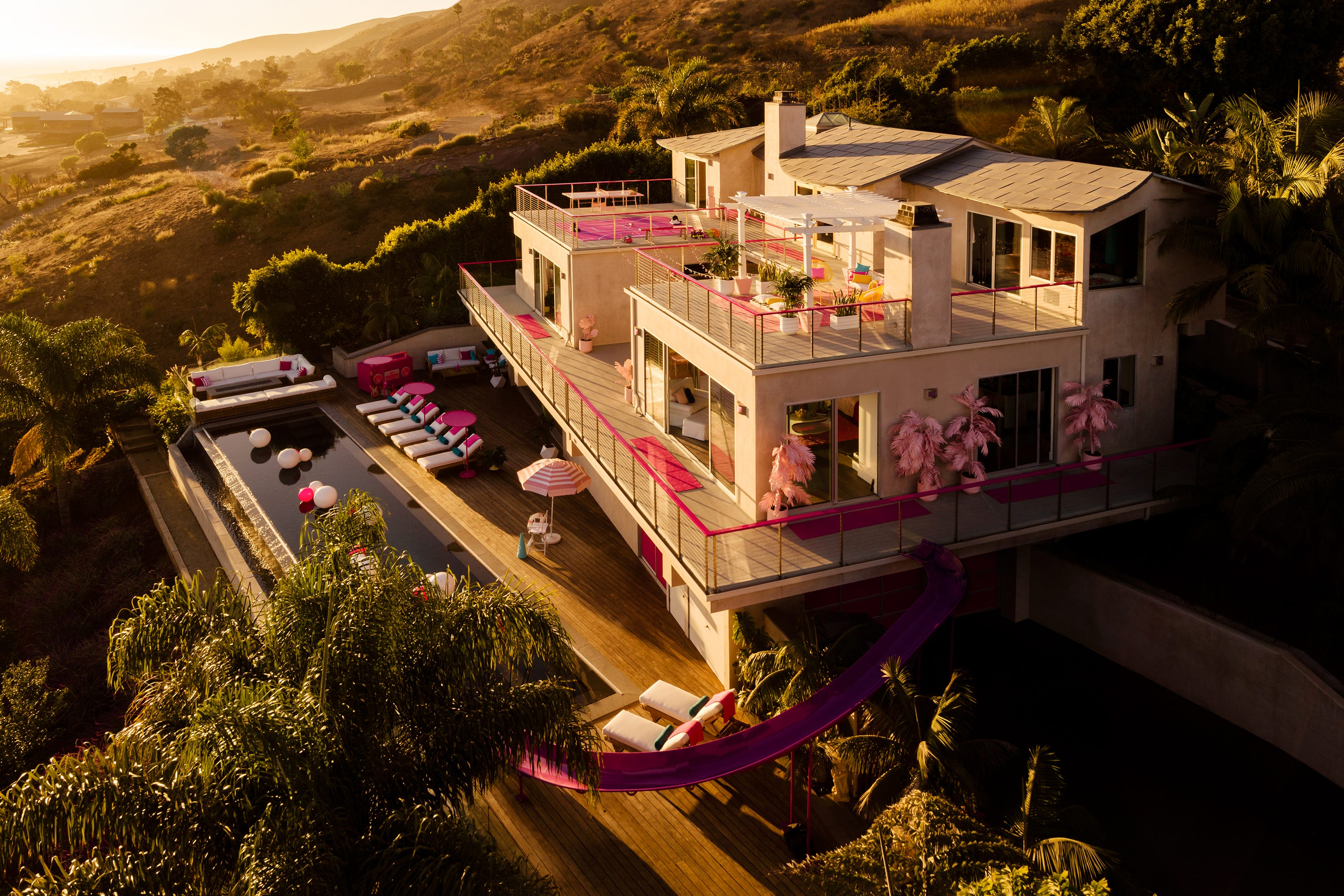 Barbie Unveils Real Life Hot Pink Dreamhouse Mansion On Airbnb