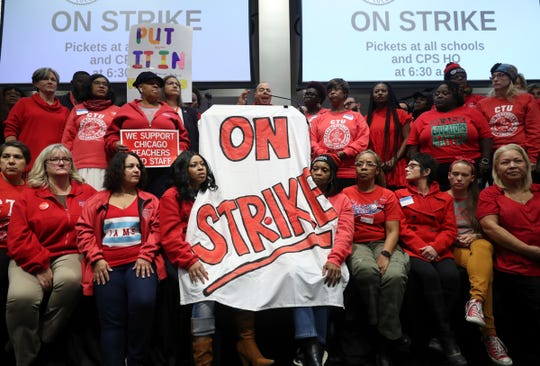 Westlake Legal Group 588b15aa-88c2-4b17-bdaf-f8cd3f44ea29-AP_Chicago_Schools-Strike A day without teachers: 32,000+ educators in Chicago went on strike. Here's what it was like.