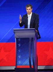 Former Rep. Beto O'Rourke, D-Texas, at the presidential debate in Houston on Sept. 12, 2019.