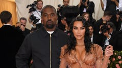 Kim Kardashian and Kanye West arrive for the 2019 Met Gala at the Metropolitan Museum of Art on May 6, 2019 in New York.