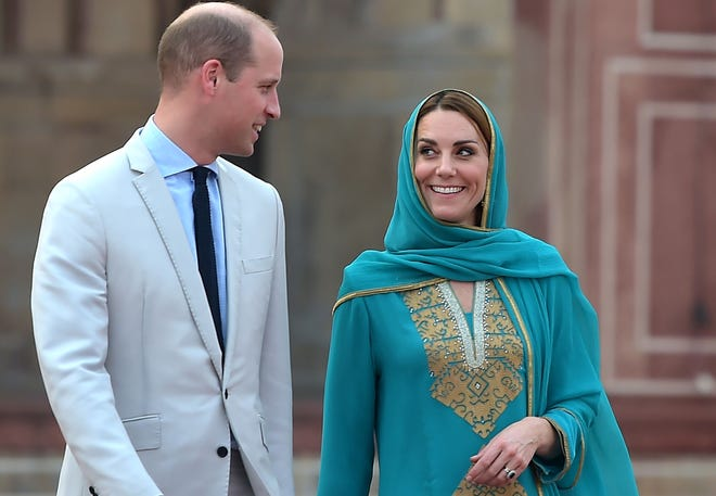 Prince William and Duchess Kate of Cambridge spent Day 4 of their visit to Pakistan playing cricket, meeting kids at an orphanage and hospital, and visiting an historic mosque in Lahore on Oct. 17, 2019.