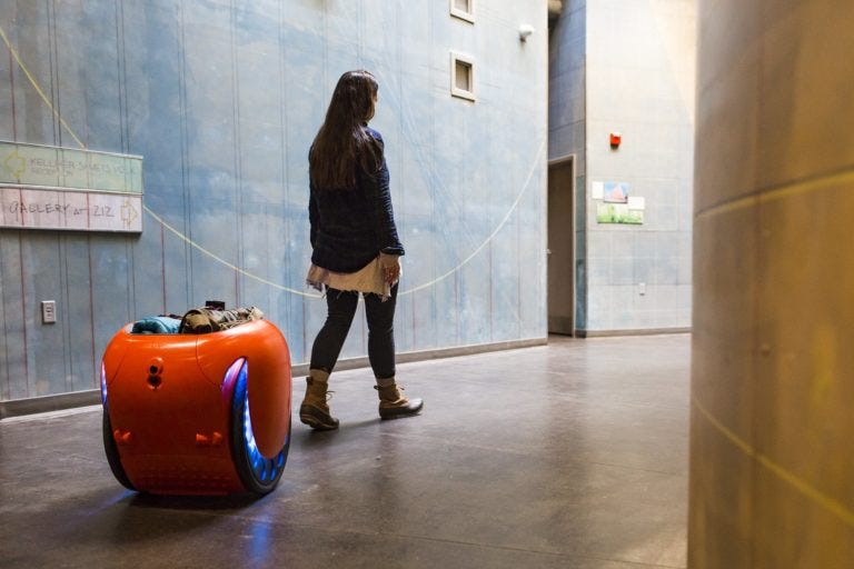 Gita is a new cargo robot that can follow you, carry your stuff for about 4 hours
