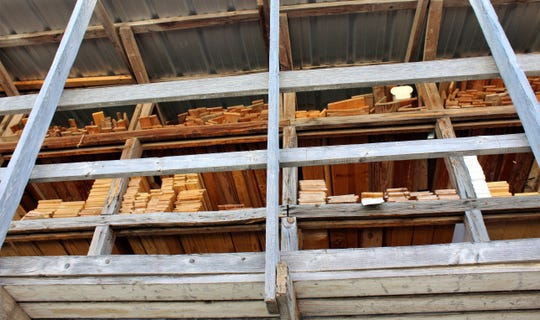 Different lengths and types of wood are stored at City Lumber in Abilene.