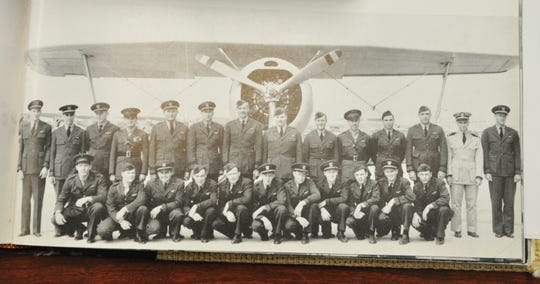 Navy Lt. George Freed (back row, fourth from left) was pictured with other instructors of Squadron 15 in 1942 at Naval Air Station-Corpus Christi. He lobbied for a combat assignment and shipped out on the USS Bunker Hill in September 1943. He was killed in combat near Kavieng on Papua New Guinea on Jan. 1, 1944 and his name is listed on the Wall of the Missing at the Manila American Cemetery.