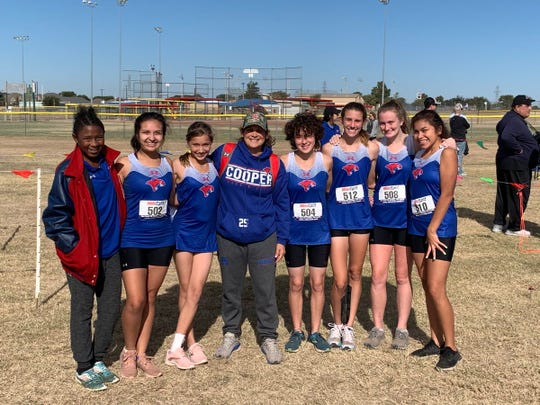 The Cooper girls cross country team finished District 4-5A runner-up at Thursday's meet in Wichita Falls. The second-place finish sends the Lady Cougars to the Region I-5A meet in Lubbock on Oct. 28.