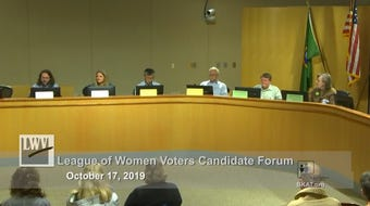 Video from a League of Women Voters candidate forum at Bainbridge Island City Hall on Thursday, Oct. 17.