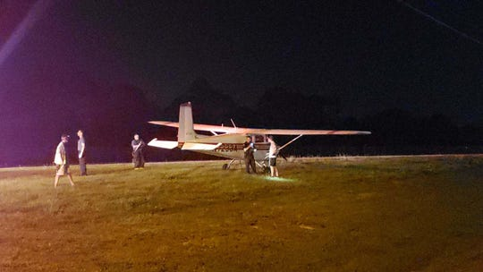 A single-engine airplane landed on Old NASA Boulevard, not far from Orlando Melbourne airport, about 9 p.m. Oct. 17, 2019.