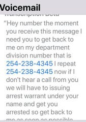 Messages from con artists purportedly calling about problems with Social Security or Medicare typically include threat of arrest.
