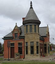 The Bucyrus depot of the Toledo and Ohio Central Railroad.