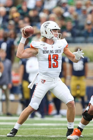 Grant Loy started seven games for Bowling Green last season, at Notre Dame was his first since high school.